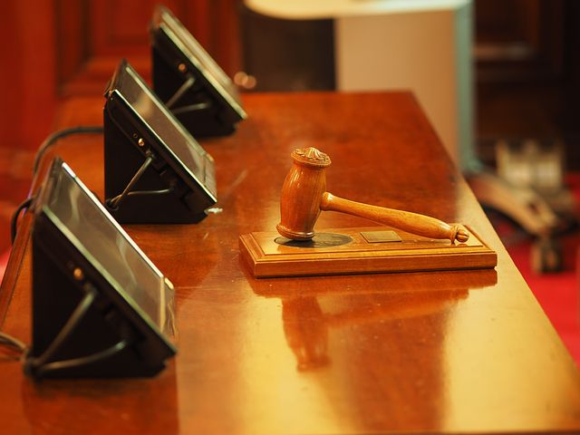 gavel inside the court room