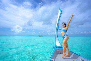 woman wearing a bikini