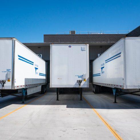 trucks used for freight forwarding