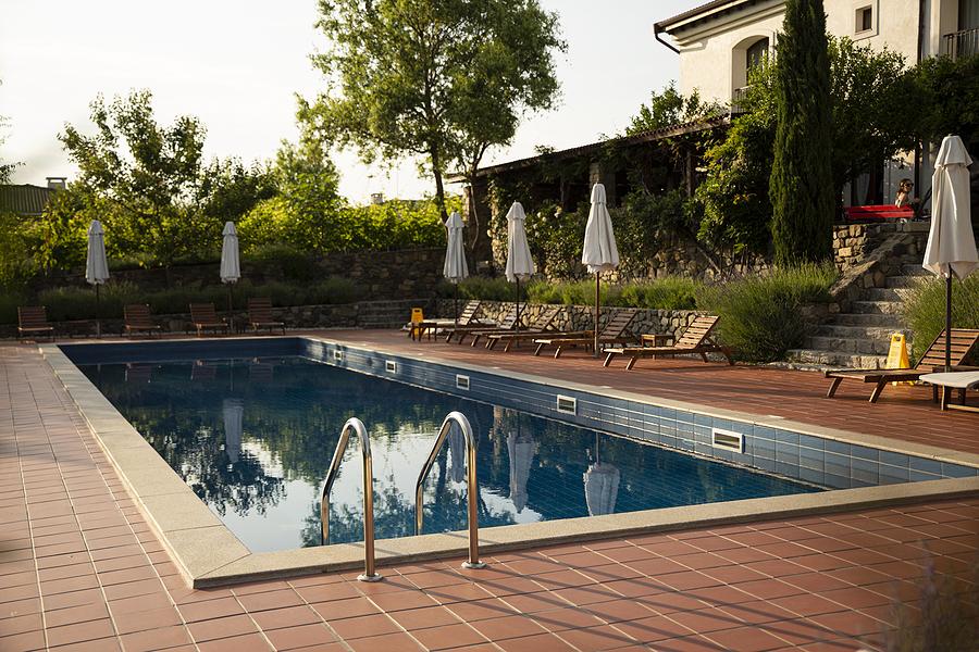 Pool in the backyard