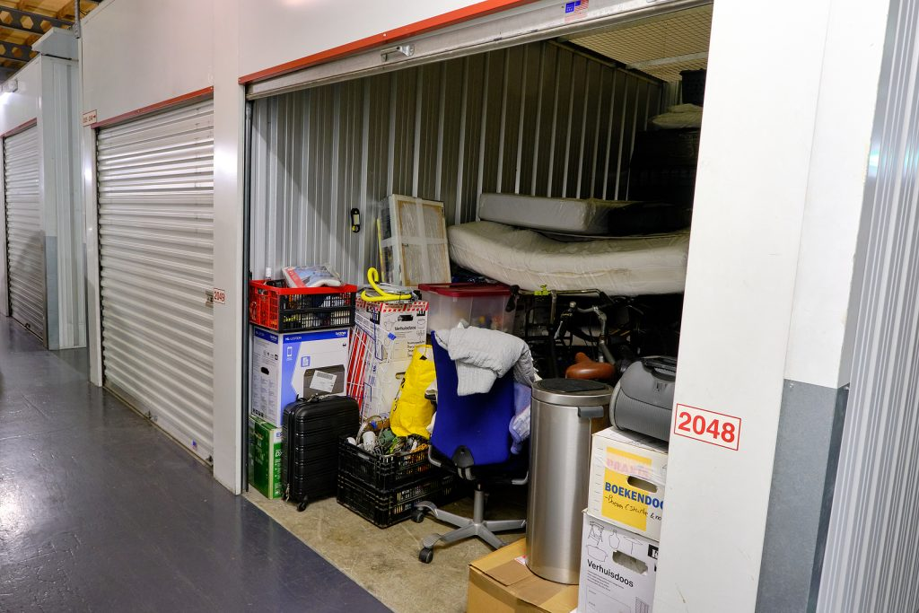 Home stuff inside a Newcastle storage